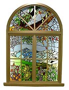 Stained Glass Windows and Wood Doors